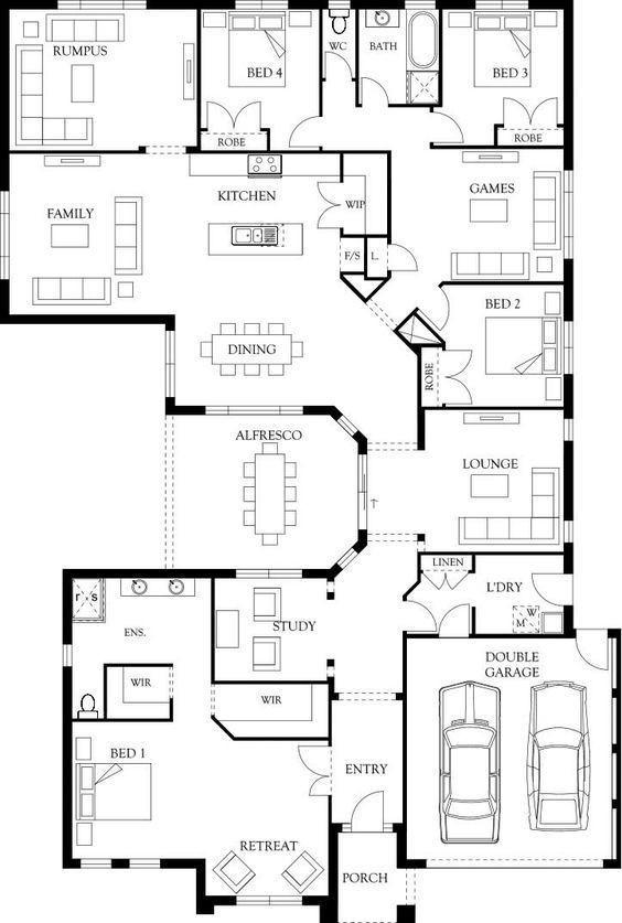 4 bedroom house plan in nigeria design 1