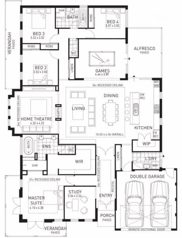 4 bedroom house plan in nigeria design 2