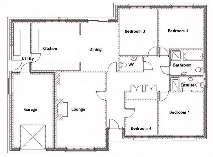4 bedroom house plan in nigeria design 3 - 4-Bedroom Bungalow House Plans in Nigeria -[with Pictures]