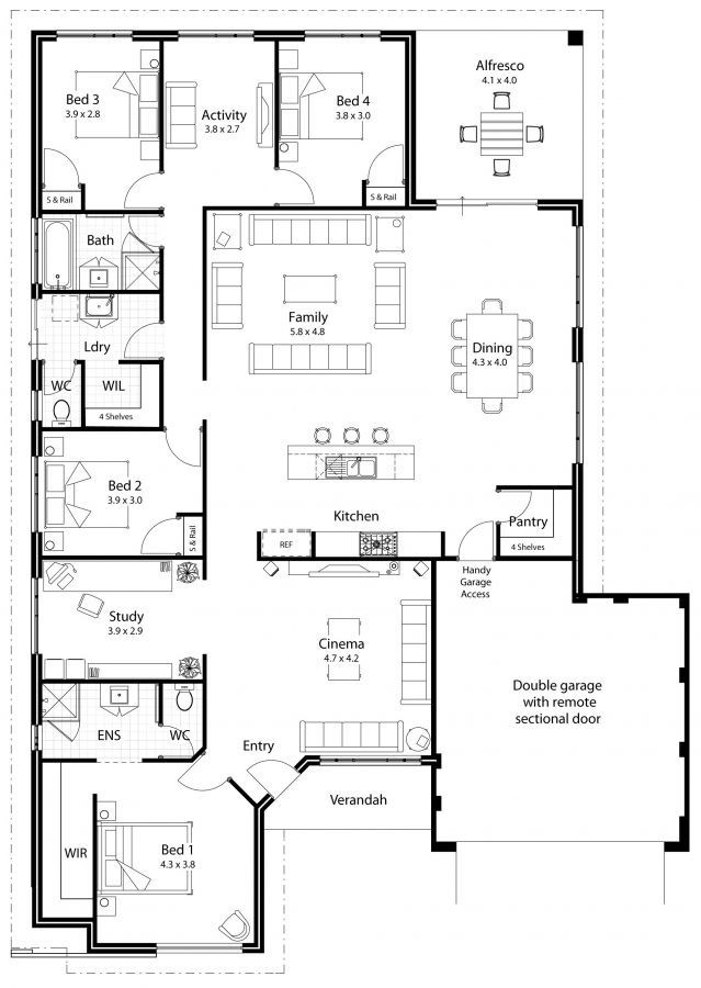 4 bedroom house plan in nigeria design 4 - 4-Bedroom Bungalow House Plans in Nigeria -[with Pictures]