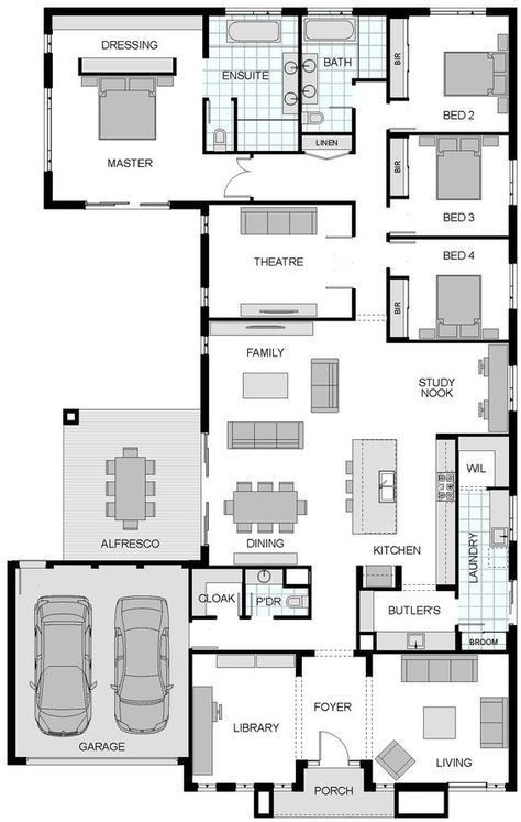 4 bedroom house plan in nigeria design 6 - 4-Bedroom Bungalow House Plans in Nigeria -[with Pictures]