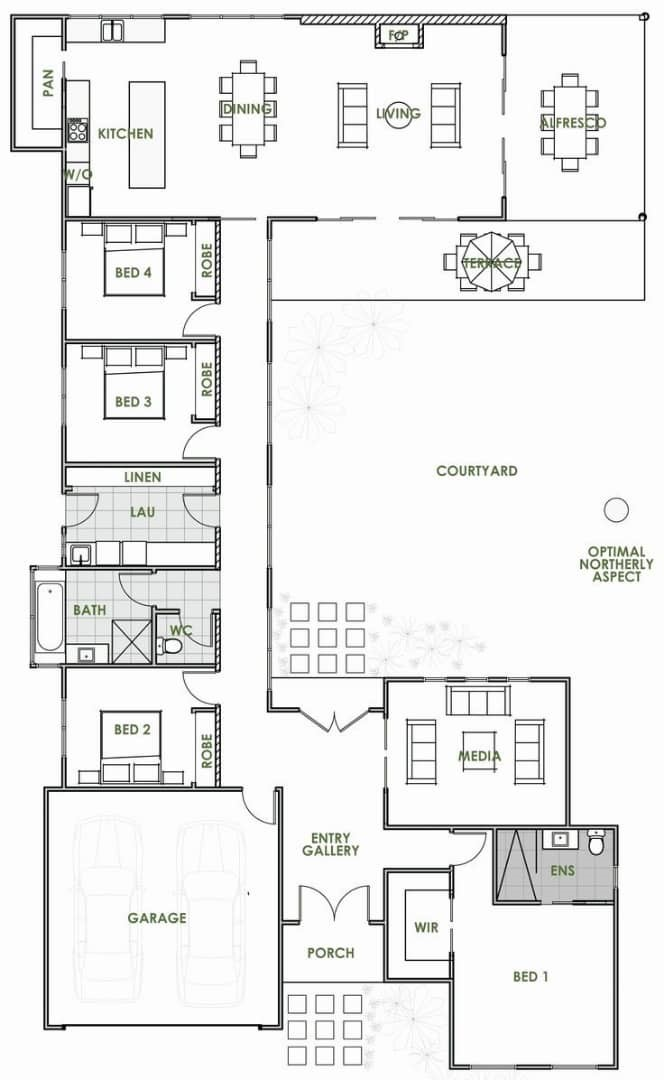 4 bedroom house plan in nigeria design 7 - 4-Bedroom Bungalow House Plans in Nigeria -[with Pictures]
