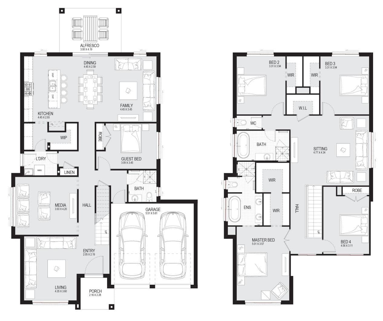 Plan for Standard 5 bedroom Apartment 5 - 5-bedroom House Designs [with Pictures]