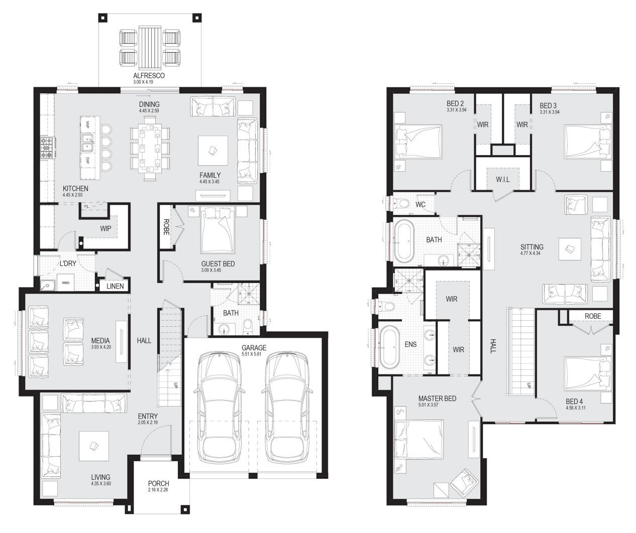 cost of duplex plan 2 - Cost of Building a Duplex in 2020 [with Pictures] - AYNTK