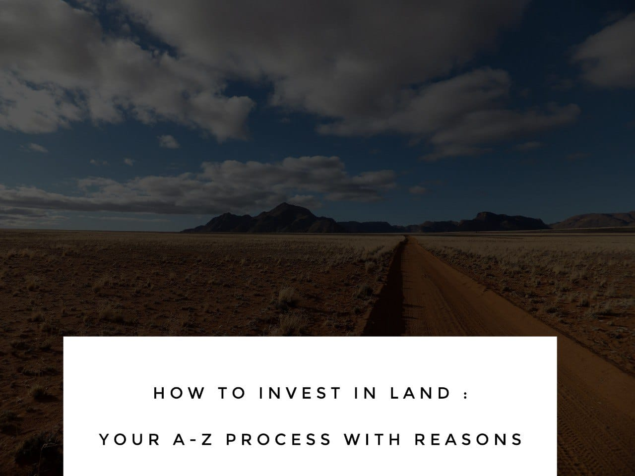 how to invest in land